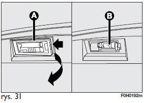 Fiat Idea Lampa Oświetlenia Tablicy Rejestracyjnej